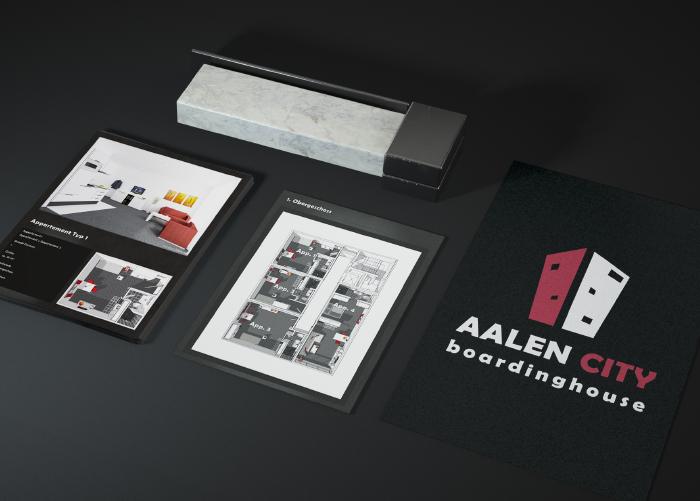Media2Art Referenz Boardinghouse Aalen Logogestaltung