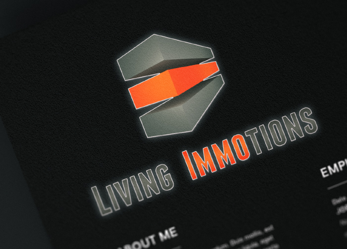 Referenz Living Immotions - Logogestaltung und Webdesign