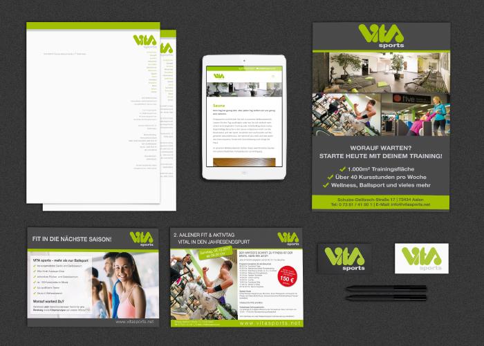 Referenz Vita Sports - Internetseite, Geschäftsausstattung, Flyer, Werbematerial