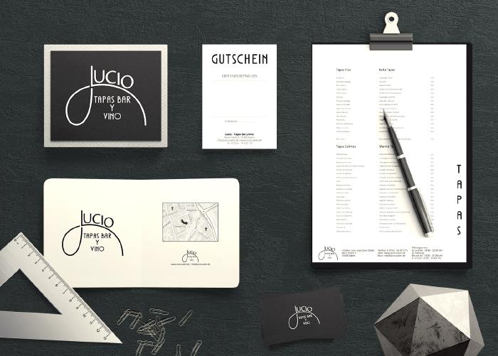 Referenz Lucio Tapas Bar - Corporate Identity, Geschäftsausstattung und Werbematerial
